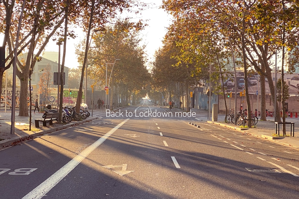 empty streets Barcelona